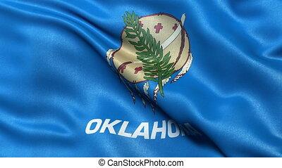 Oklahoma state flag seamless loop - Realistic Oklahoma state...