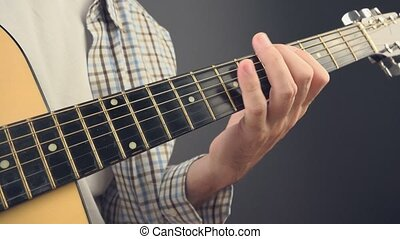 Musician playing rock tune