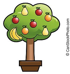 Magic fruit tree - Illustration of the magic fruit tree on...