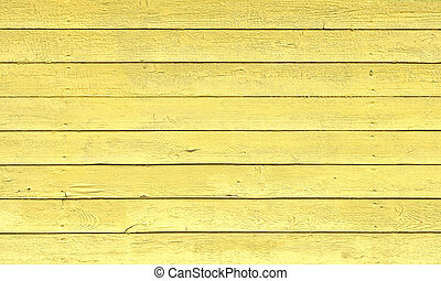 Yellow Painted Wood Planks as Background or Texture