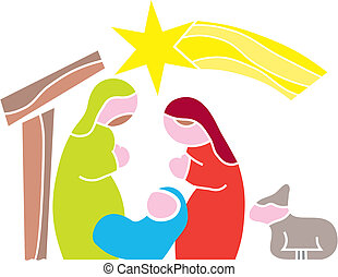 Star of Bethlehem Nativity - Illustration Cartoon vector...