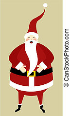 Santa greeting card - Christmas Series: Happy Santa Claus...
