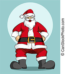 Santa Claus: Christmas greeting card - Christmas Series:...