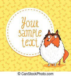 %u0421ard background with collie - Cute card background with...