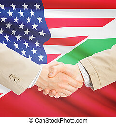 Businessmen handshake - United States and Bulgaria -...