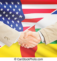 Businessmen handshake - United States and Central African...