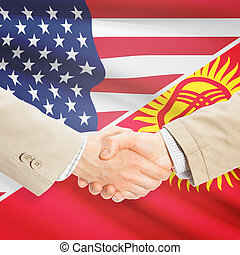 Businessmen handshake - United States and Kyrgyzstan -...