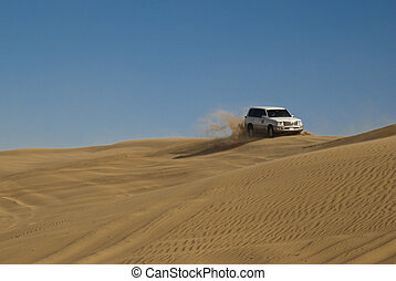 Desert Safari - Dune bashing, a major tourist attraction