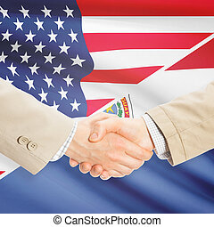 Businessmen handshake - United States and Paraguay -...