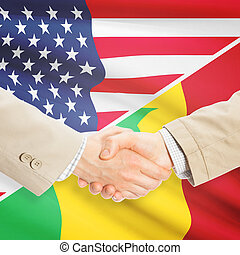 Businessmen handshake - United States and Senegal -...