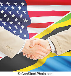 Businessmen handshake - United States and Tanzania -...