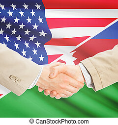 Businessmen handshake - United States and Azerbaijan -...