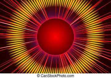 red abstract background, light