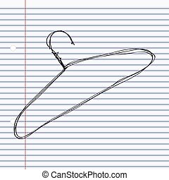 Simple doodle of a coat hanger - Simple hand drawn doodle of...