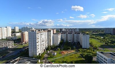 City landscape of district Zelenograd in Moscow Russia,...