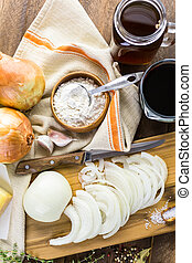 French Onion Soup - Ingredients for making French onion soup...