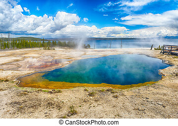 Abyss Pool, West Thumb Geyser Basin Yellowstone National...