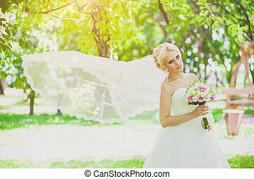 Bridal Veil in the wind - beautiful Bridal Veil in the wind...