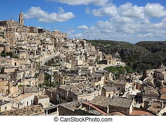 Matera, Basilikata, Italy, Old Town, Sassi, cave settlements...