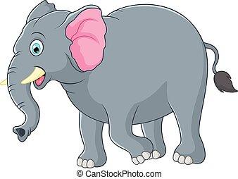 CÙte, rysunek, słoń