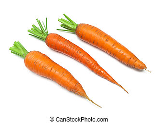 Carrot isolated on white background close up.