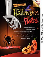 Halloween Poster Vector illustration - Halloween background...
