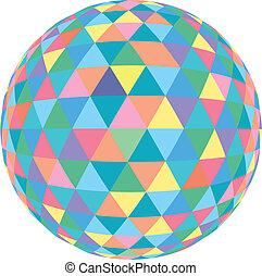 Mosaic Colour - 3D Vector illustration