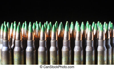Armor piercing loads - Green tipped bullets that are on...