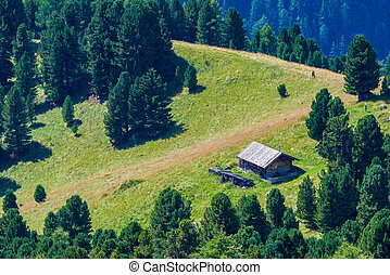 Mountain hut   - Alpine mountain hut in the Dolomites