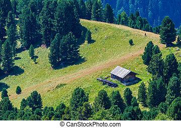 Mountain hut   - Alpine mountain hut in the Dolomites