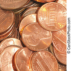 pile of pennies - a bunch of pennies in a pile
