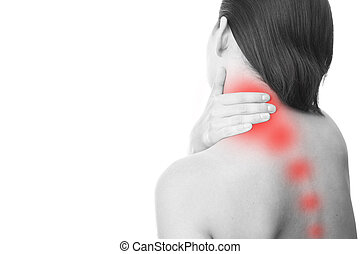 Pain in neck of women - Pain in the neck of women. Touching...