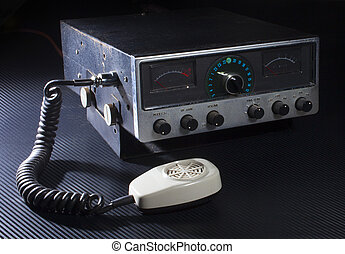 CB radio - Older style radio with twenty three channels and...