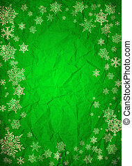 Christmas background - green christmas background with...