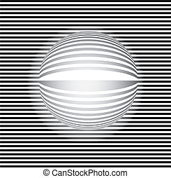 3D op art abstract background - 3D Mosaic background vector...