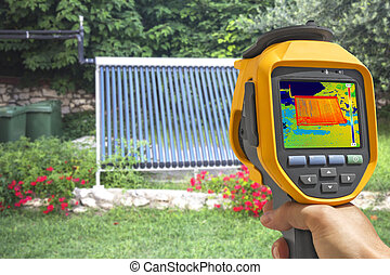 Recording Vacuum solar system With Thermal Camera -...