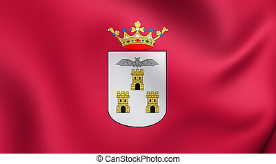 Flag of Albacete City, Spain. - 3D Flag of Albacete City,...
