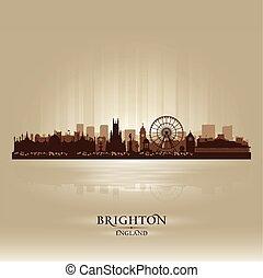 Brighton England skyline city silhouette