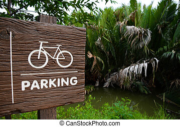 The Bicycle parking signs