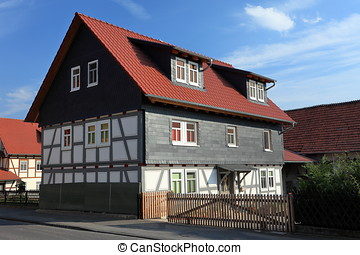 Half-timbered house in Germany