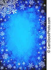 Christmas background - Blue christmas background with...