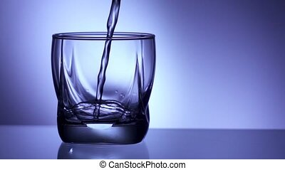 9 Glass Filled With Water In Super Slowmotion 240p - Closeup...