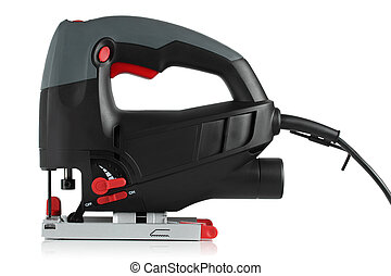 jig saw on a white background - new jig saw on a white...
