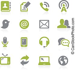 Communications Icons. Natura - Icons for your web, mobile or...