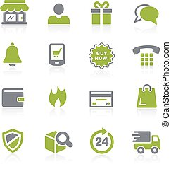 E-Shopping Icons. Natura - Icons for your web, mobile or...