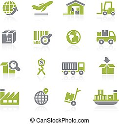 Industry and Logistics. Natura - Icons for your web, mobile...