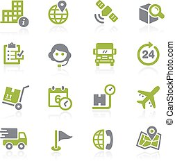 Shipping and Tracking. Natura - Icons for your web, mobile...