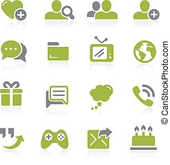 Social Communications. Natura - Icons for your web, mobile...