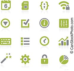 System Settings Icons. Natura - Icons for your web, mobile...