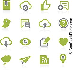 Social Sharing Icons . Natura - Icons for your web, mobile...
